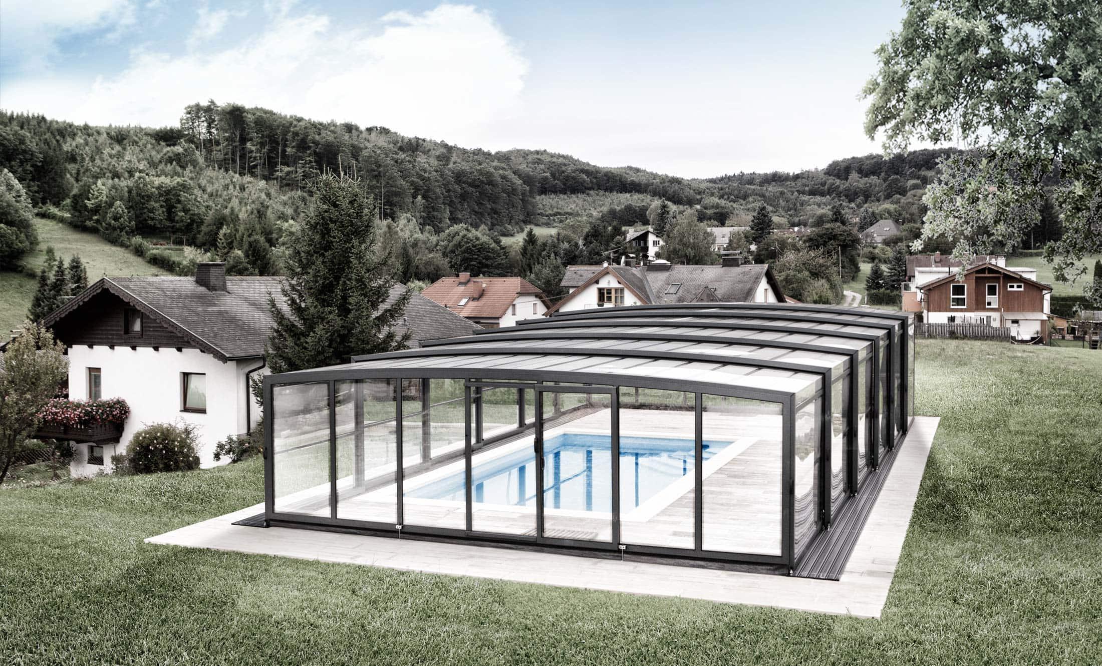Zastřešení bazénů POPP model PRESTIGE P3