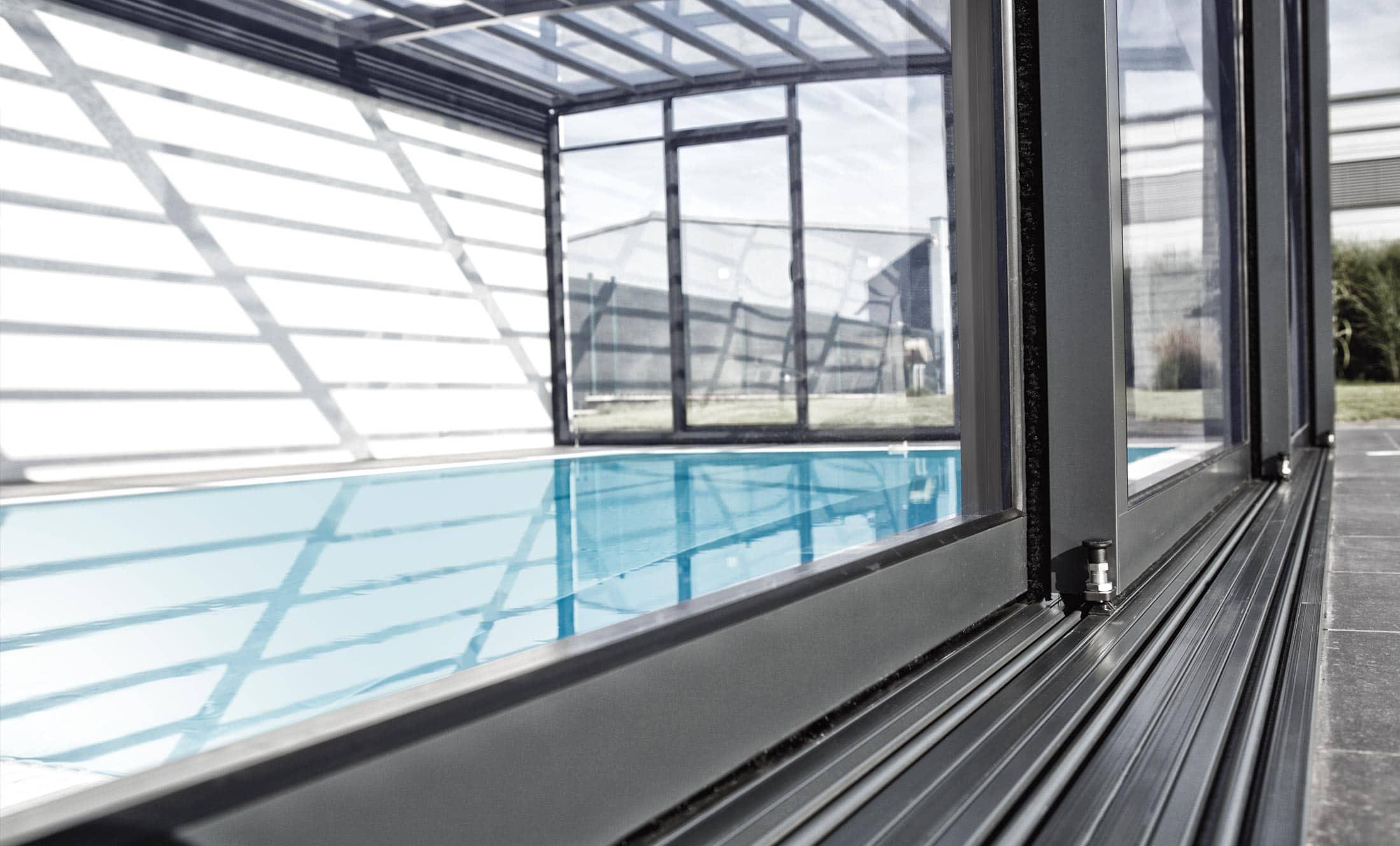Zastřešení bazénů POPP model PRESTIGE P5