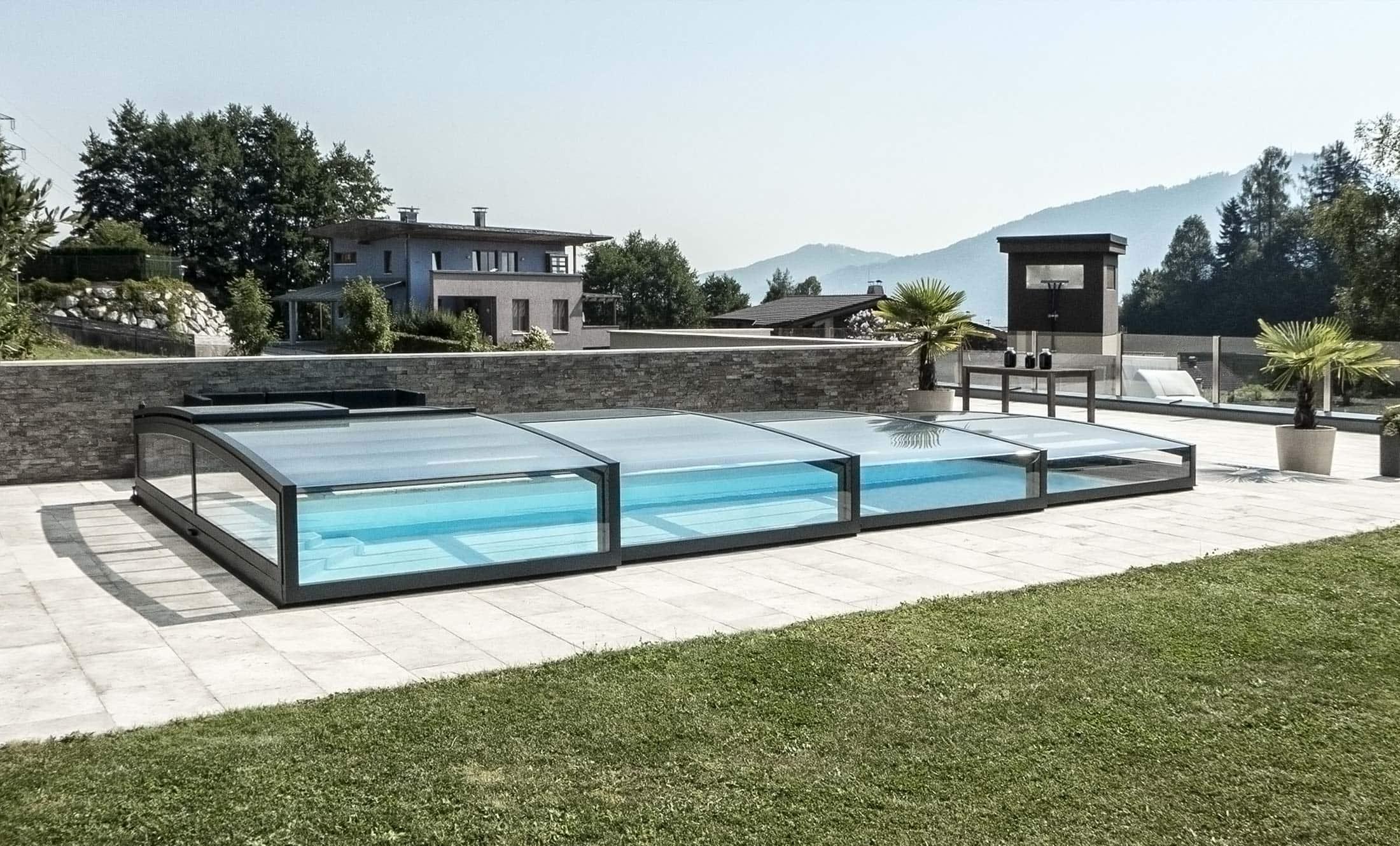 Zastřešení bazénů POPP model PRESTIGE P7