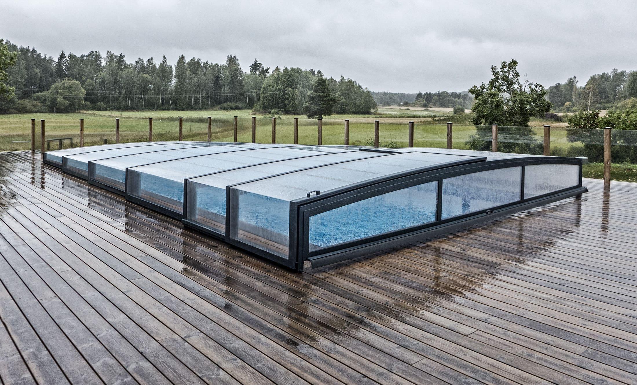 Zastřešení bazénu POPP model PRESTIGE P7